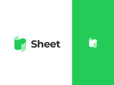 Sheet - Rebound rebound flat letter mark logo sheet paper