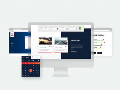 UI Transport company landing page design graphic brand branding app website ux web ui