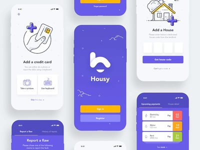 Housy Animation house rent home logo design animation illustration motion ui