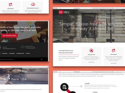 First Bank SBA Website Redesign first bank sba website redesign website design