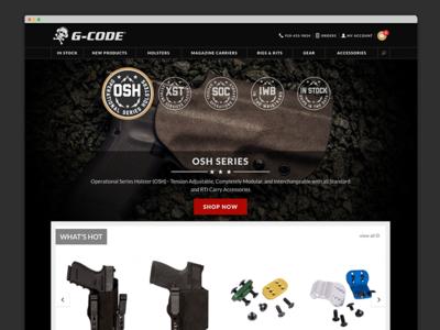 G-Code Tactical Holsters Website Design holsters ui design website design gcode