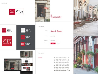 First Bank SBA Branding brand development branding first bank