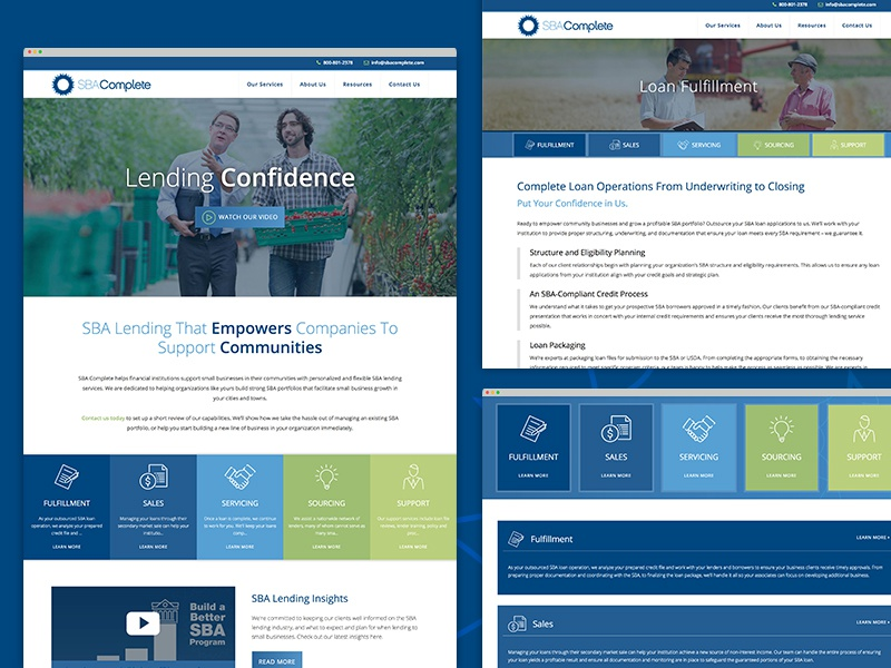 SBA Complete Site Redesign ui design sba complete website redesign website design