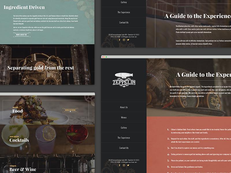 Zeppelin Southend charlotte zeppelin website design
