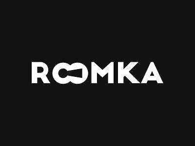 ROOMKA interiors keyhole key symbol mark logo identity