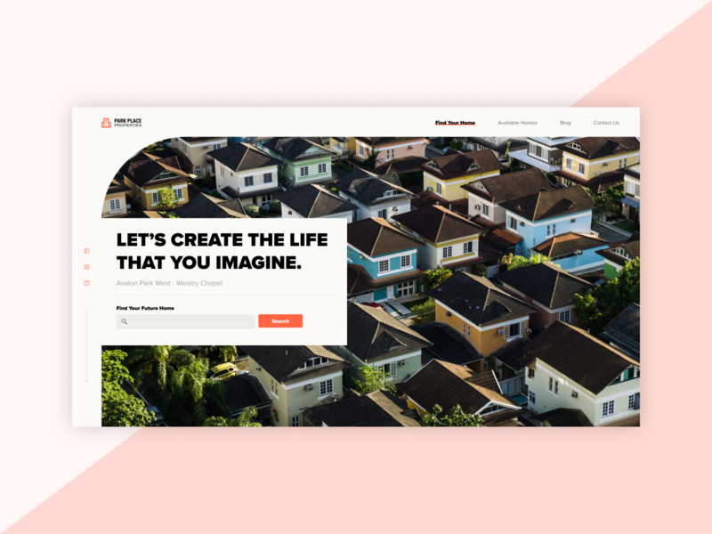Home builder landing page concept