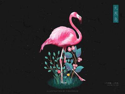 《飞鸟集》-火烈鸟