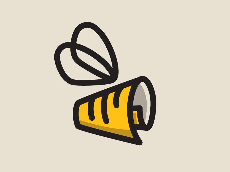 NewsBuzz logo buzz news bee logo