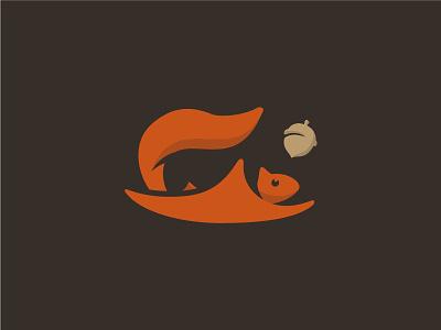 Squirrel mark logo nut flying animal squirrel