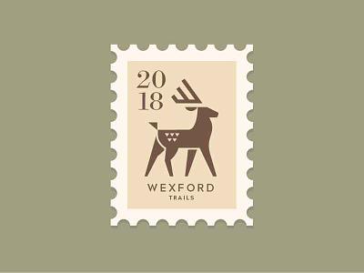 Deer stamp logo deer