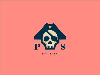 Pirate Smoke brand design logo pirate skull