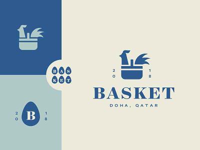 Basket minimal icon logo
