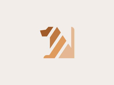 Dog minimal dog icon logo