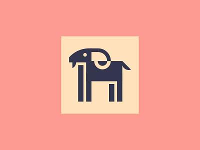 Goat minimal icon goat animal logo