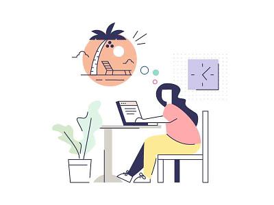 Attention work design illustration