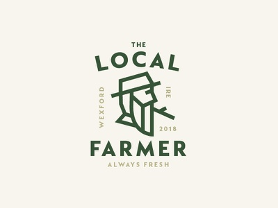 Farmer local fresh farmer farm icon logo
