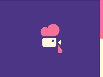 Cm camera video movie bird illustration icon logo