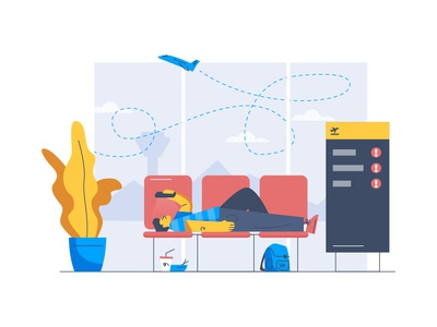 Streamflow airplane airline travel airport ui design branding icon illustration