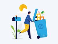 bl stats email marketing spam email website illustration