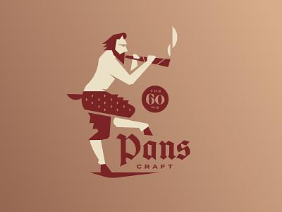 pan craft craft design weed cannabis smoke icon logo