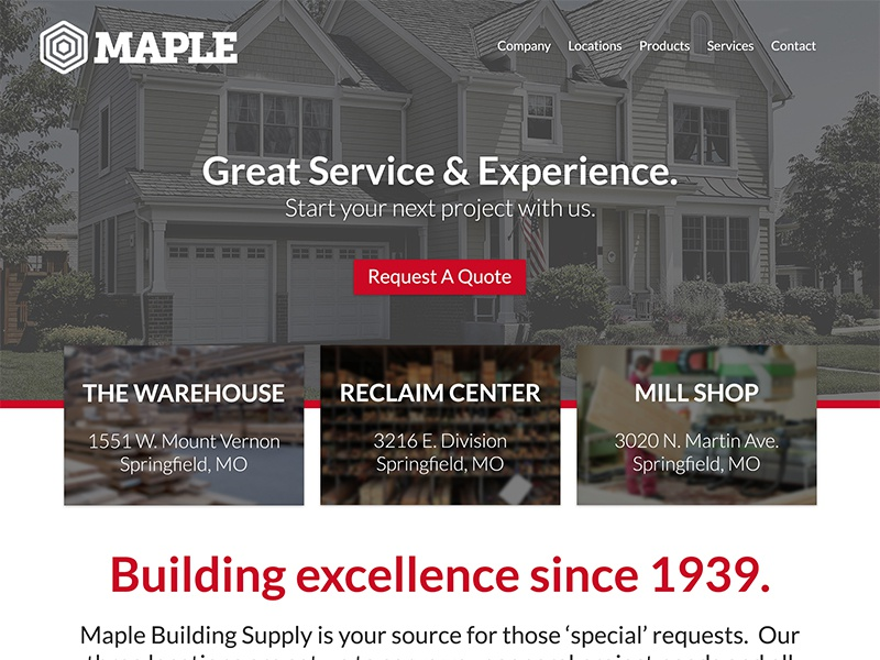 Third WIP for a Lumber Yard Theme lumber yard building supply theme website