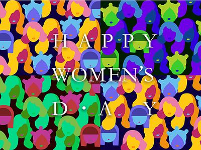 happy women's day pop girl colorful women