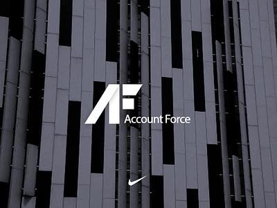 AF logo graph symbol letters af brand logo