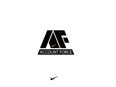 AF logo symbol graph nike letters logo af