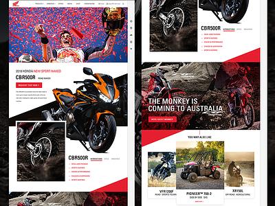 motorcycle web design red website motorcycle
