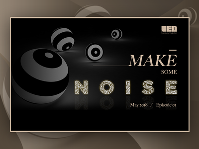 Make some noise ppt c4d golden black