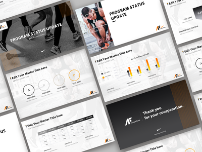 PPT template for NIKE nike data template ppt