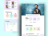 Minimal Personal Portfolio Landing Page