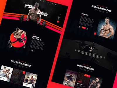 Bison - Fitness Landing page Concept
