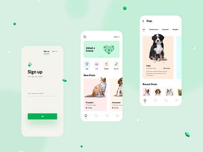 Pet Adoption uxdesign ux pet care petstore pet app pets pet adoption