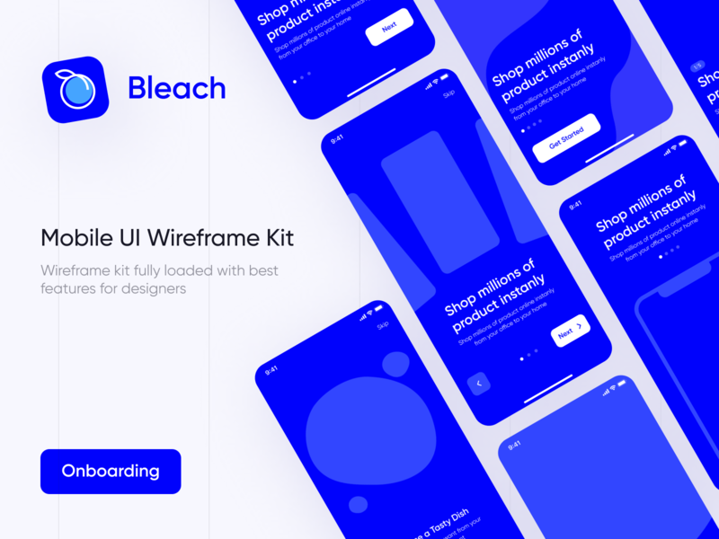 Bleach - Free Mobile Wireframe Kit