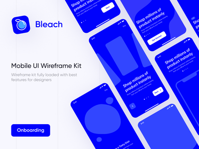 Bleach - Free Mobile Wireframe Kit android ios clean app mobile wireframe kit wireframe layout interface design ui