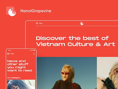 Hanoigrapevine Website Redesign community art culture creative web website layout interface design ui