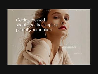 Le Legna - Website Concept slider clean fashion ecommerce web website layout interface design ui