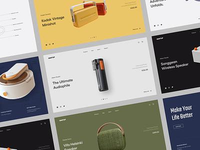 Martup - Online Technology Shop technology slider ecommerce clean web website layout interface design ui