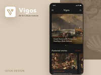 Vigos - Art & Culture App Design