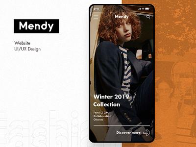 Mendy --- Fashion Online Store (UI Concept) fashion ecommerce web layout app website ux interface design ui