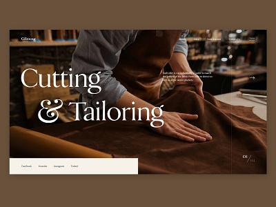 Gilmour - Tailor shop layout web suit bespoke tailor fashion ecommerce interface ui design website