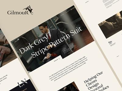 Gilmour - Tailor Shop Website tailored tailor fashion ecommerce web layout website interface design ui