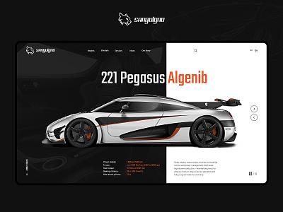 Sanguigno - Showcase car service showcase automotive web layout website interface design ui