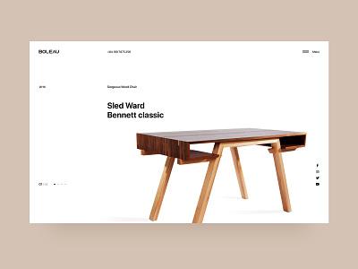 Boleau - Slider interface interior furniture clean ecommerce web layout website design ui