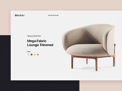 Boleau - Furniture Website Design interior furniture slider clean web layout website interface design ui