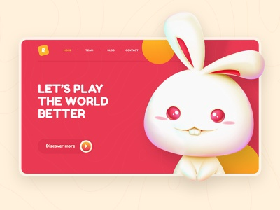 Happy Mid Autumn Festival mid autumn festival rabbit illustration clean web layout website interface design ui