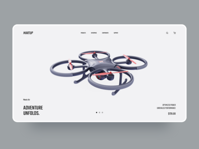 Martup - Drone Landing Page