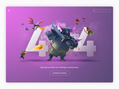 DailyUI #008 - 404 Page 008 clash of clans clash webdesign interface 404 page ui daily