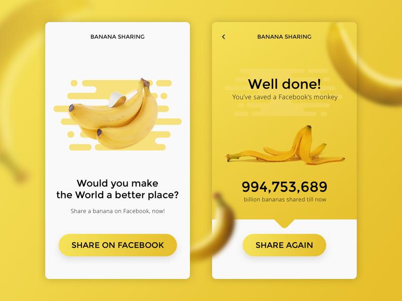 DailyUI #010 - Social Share 010 banana app share social social share ui daily
